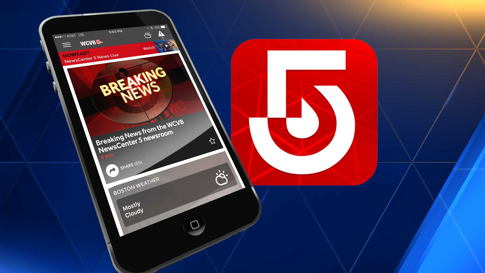 WCVB App Breaking News Generic