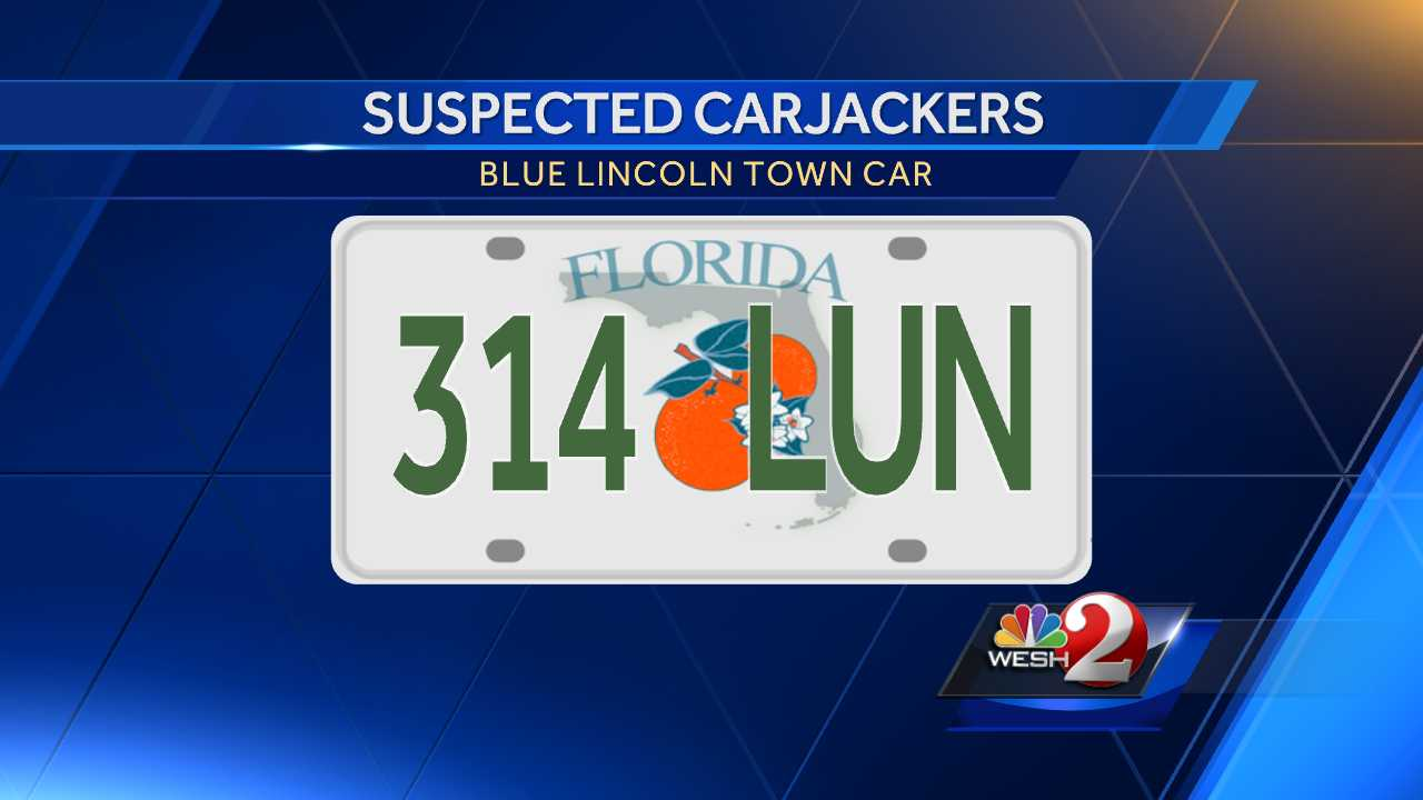Melbourne carjacking license plate