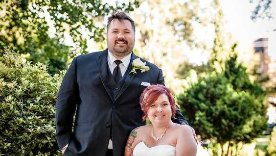 Becky Yonker and Jarrod Bradley were married on Oct. 9.