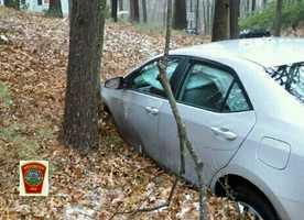 Westwood icy road crash