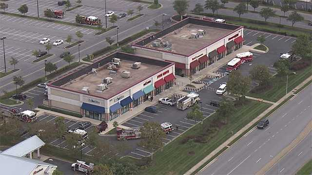 Several businesses shut down after contractor strikes electrical line