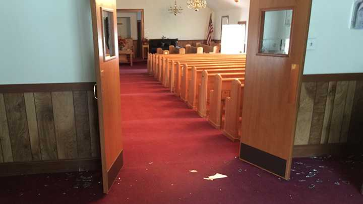Sweet Home Baptist Church in Wilkes County was damaged during a recent break-in.