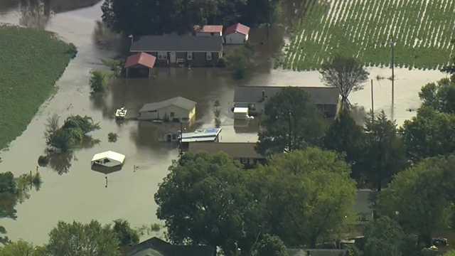 Flooding in Windsor, Bertie County