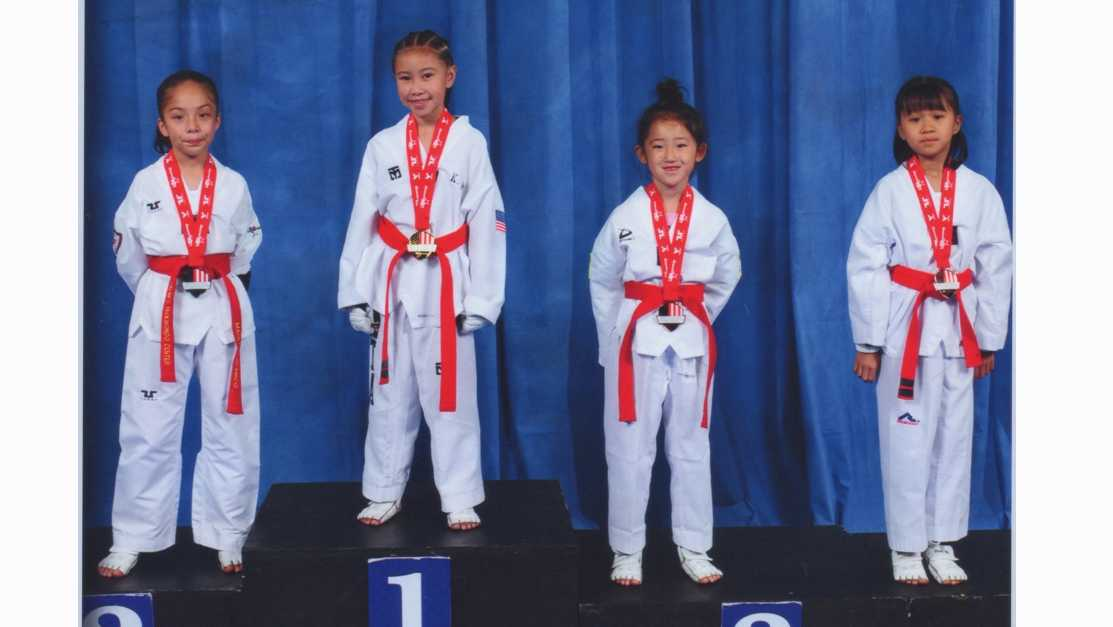 Kylee No tops the podium at the USA Taekwondo Nationals
