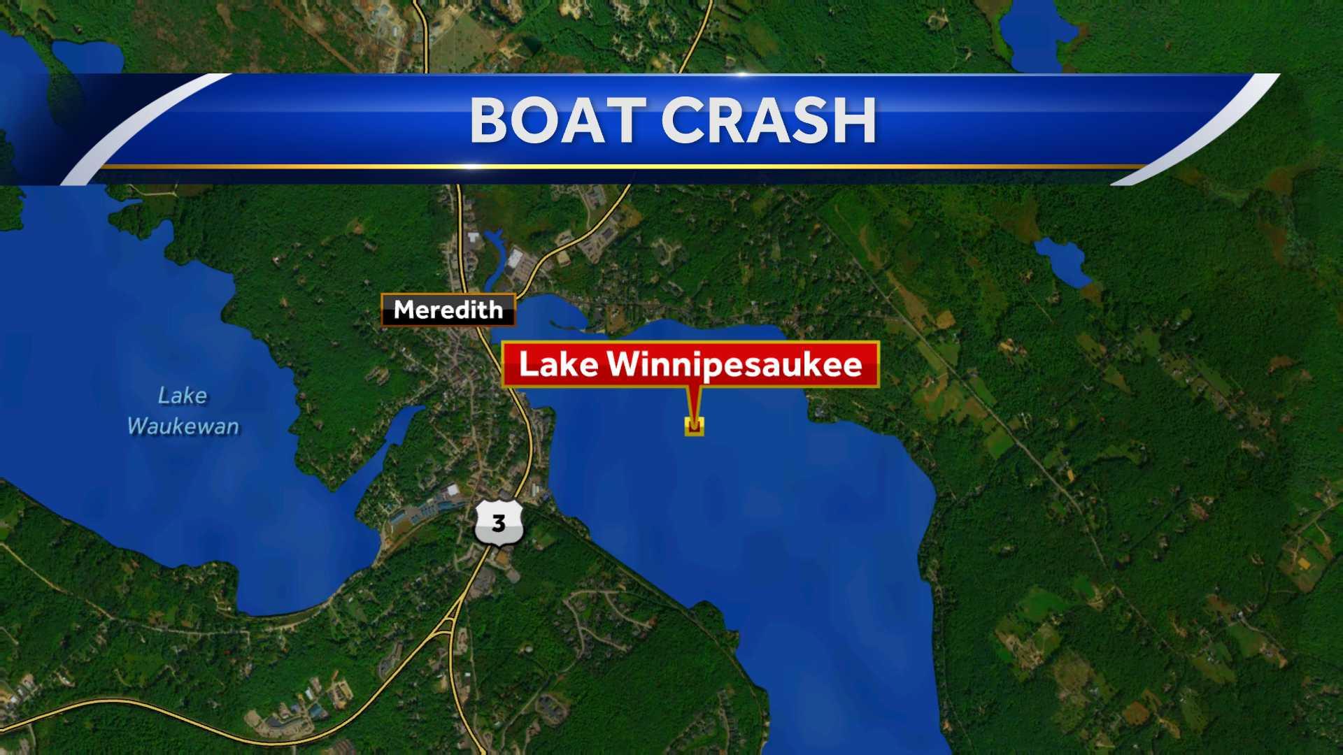 Two hurt in boat crash on Lake Winnipesaukee
