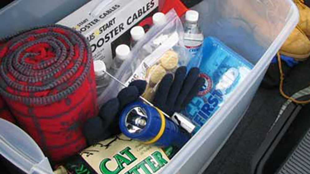 Winter emergency kit for car