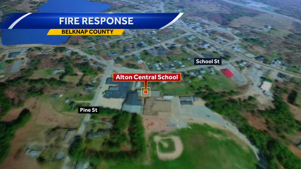 Officials say a sprinkler pipe broke and flooded part of Alton Central School.