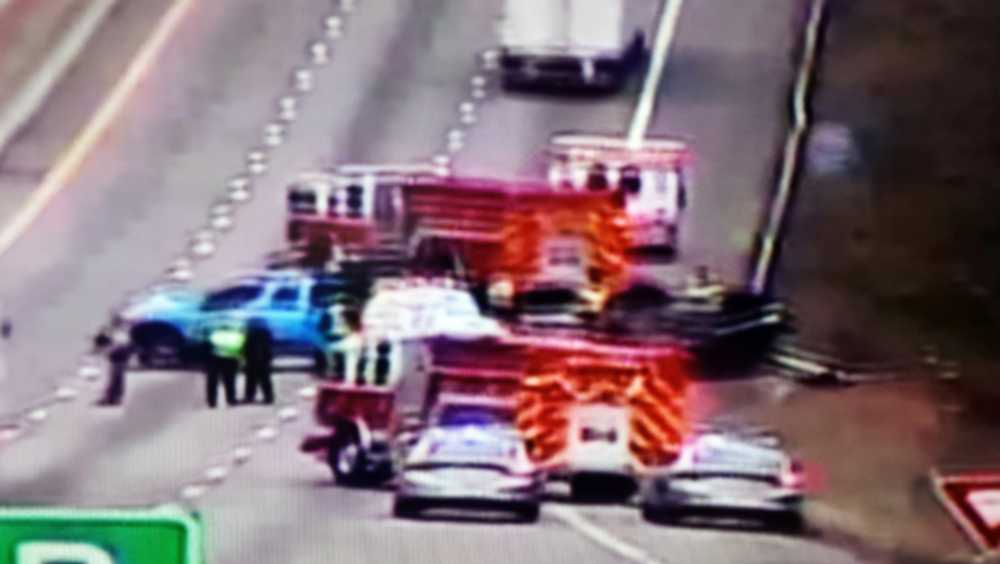 Crash on I-85 near Laurens