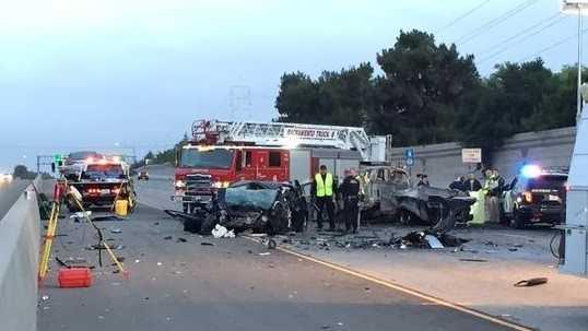 Wrong-way crash on Highway 50