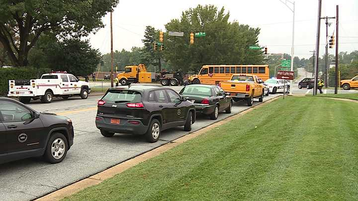 A Winston-Salem/Forsyth County school bus was involved in a crash Tuesday morning.