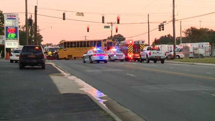 School bus, pickup truck collide in Winston-Salem