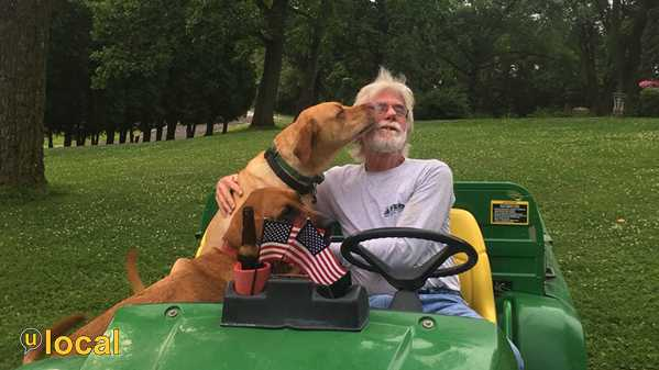 John Deere, Budd, American flags & dogs