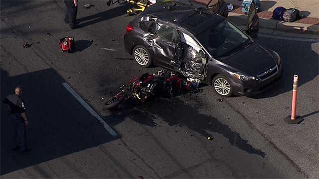 York Road motorcycle crash
