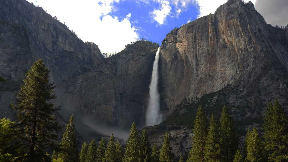 Yosemite Fall in Yosemite National Park on Monday, May 8, 2017.