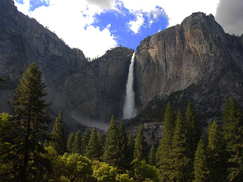 Yosemite Fall in Yosemite National Park on Monday, May 8, 2017.