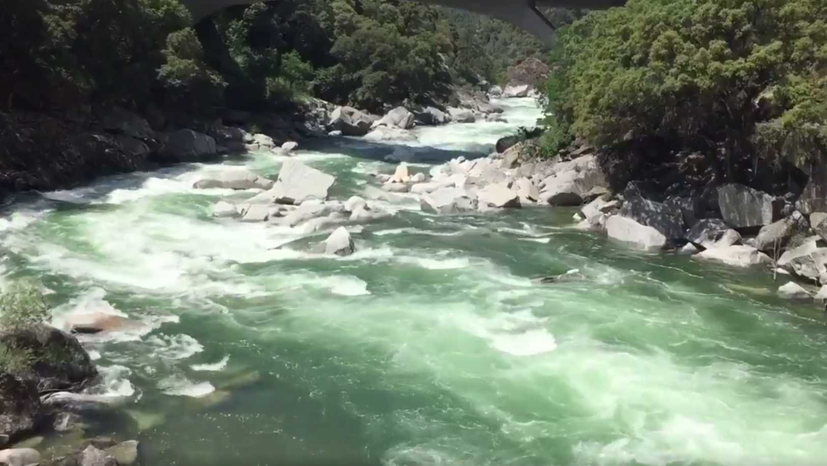 View of the Yuba River from the Highway 49 bridge on Tuesday, May 30, 2017.