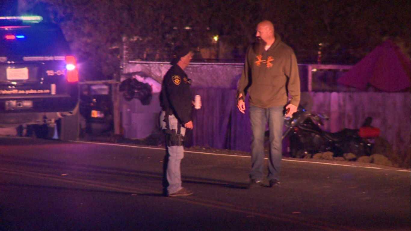 Deputies investigate a shooting and a crash in Olivehurst on Thursday, Nov. 3, 2016.