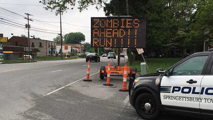 Springettsbury Township zombie sign
