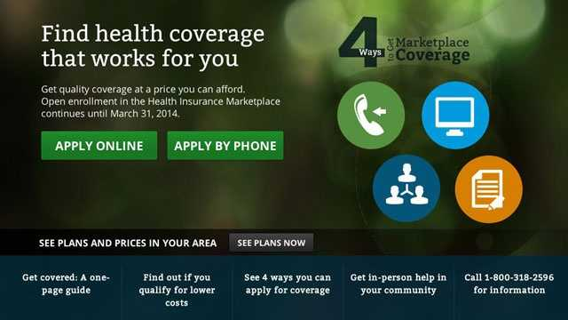 Affordable Care Act website, health care website