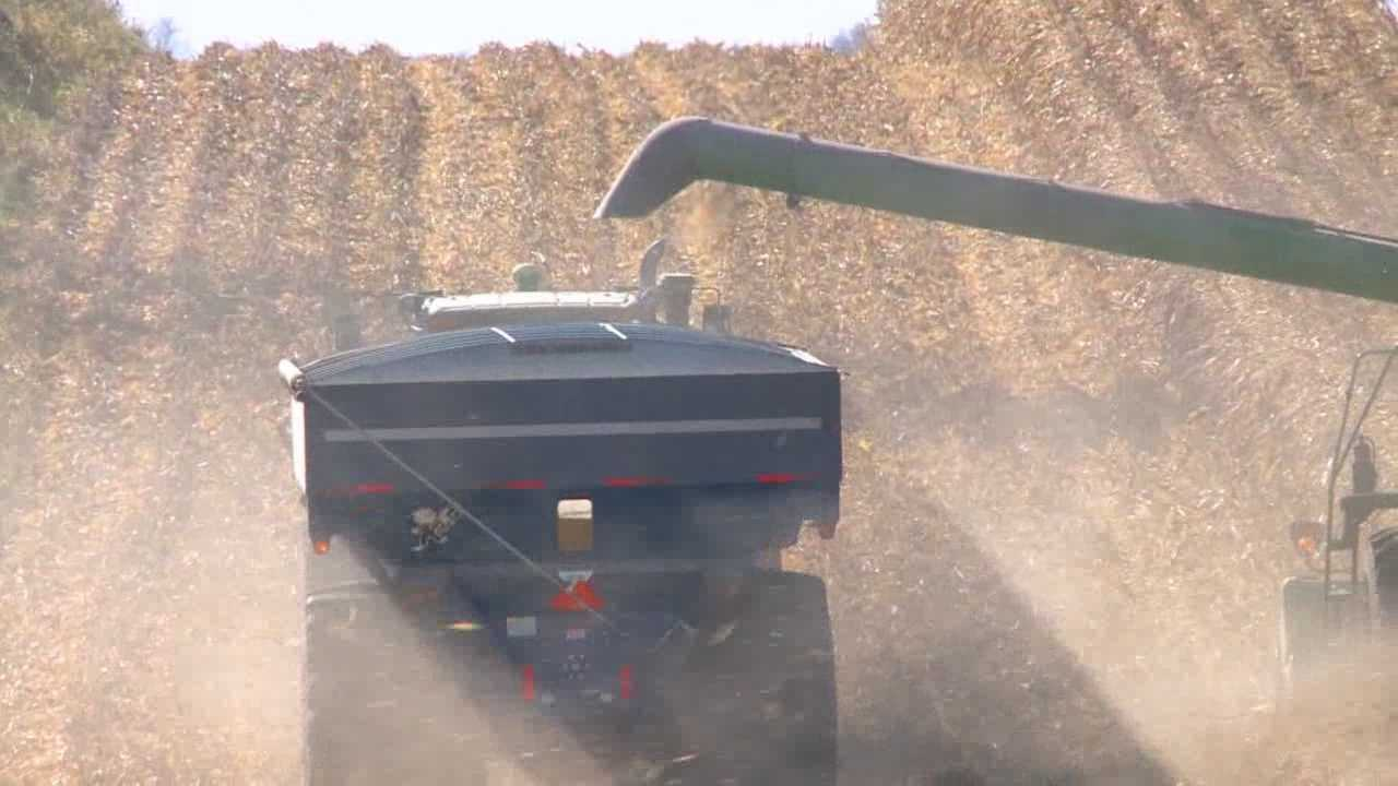 Farmers are using every second of dry weather to get back in the field.