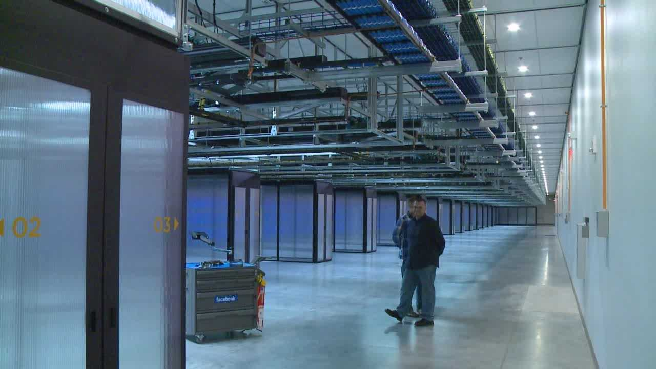 The data center officially opened Friday, and other building is already going up.