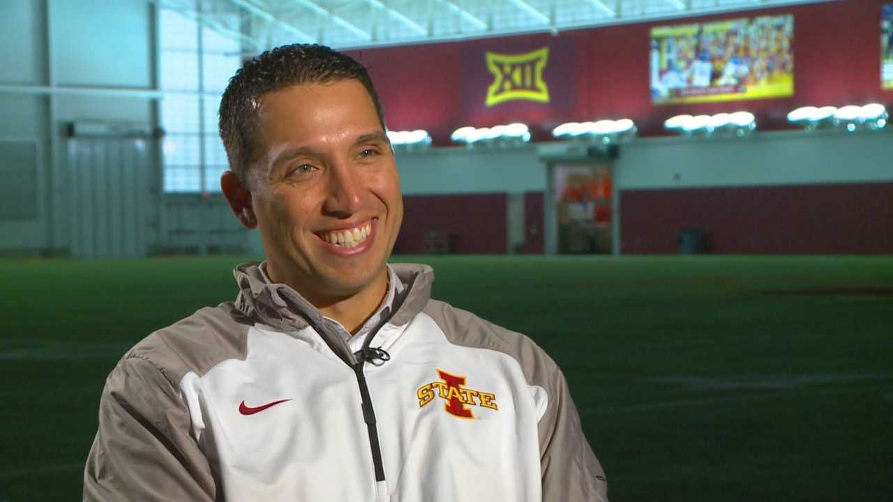 The new Iowa State head football coach spoke with KCCI Sports Director Andy Garman on Tuesday.
