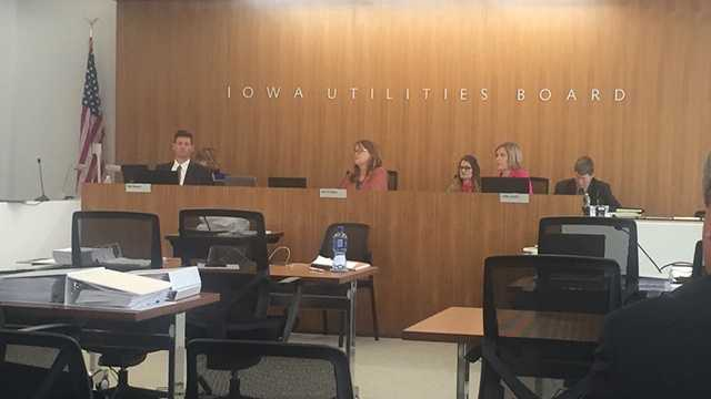 Iowa Utilities Board voting on start of Bakken pipeline construction.