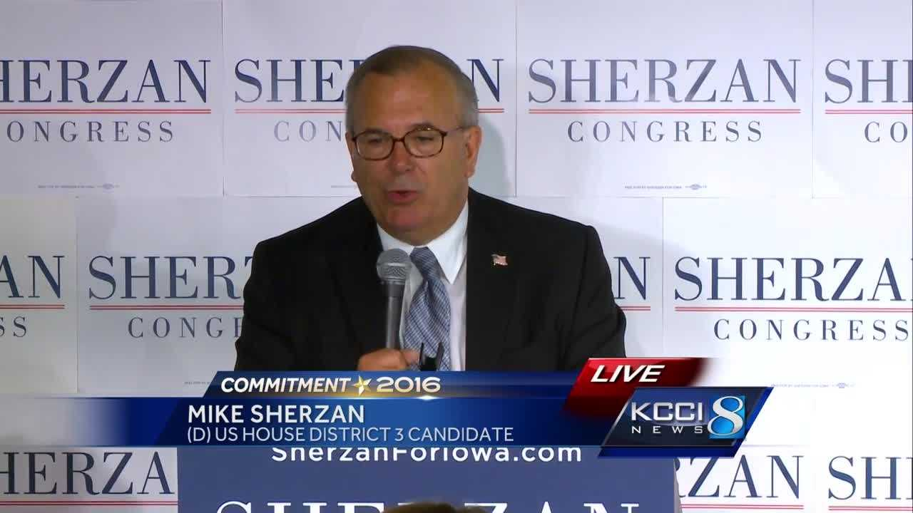 Sherzan concession speech in US House District 3