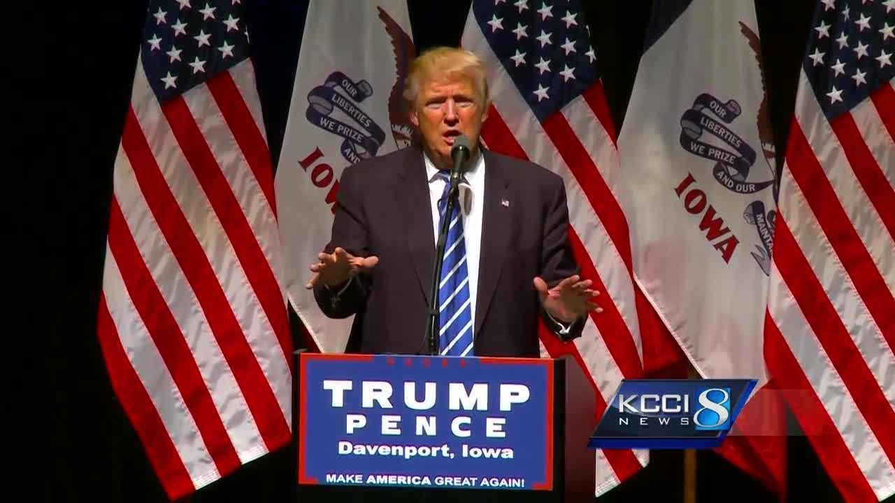 Donald Trump tries to appeal to independents in eastern Iowa