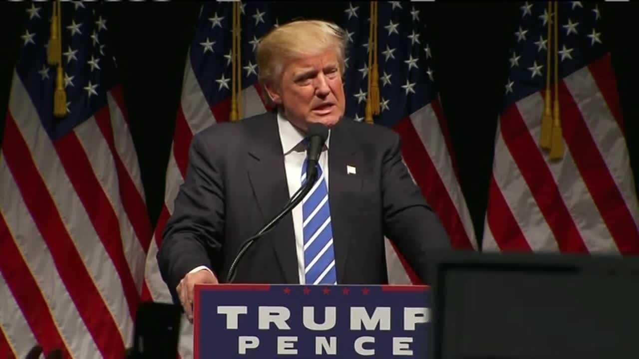 Donald Trump speaks at Iowa event