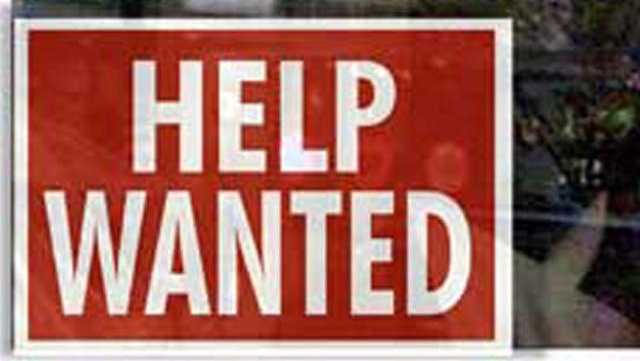 Help wanted sign unemployment economy - 26608210