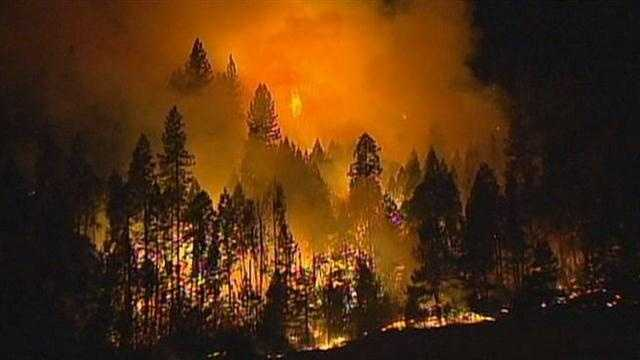 Massive Detwiler Fire near Yosemite caused by gunshots