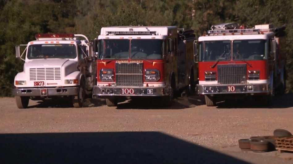Cal Fire trucks