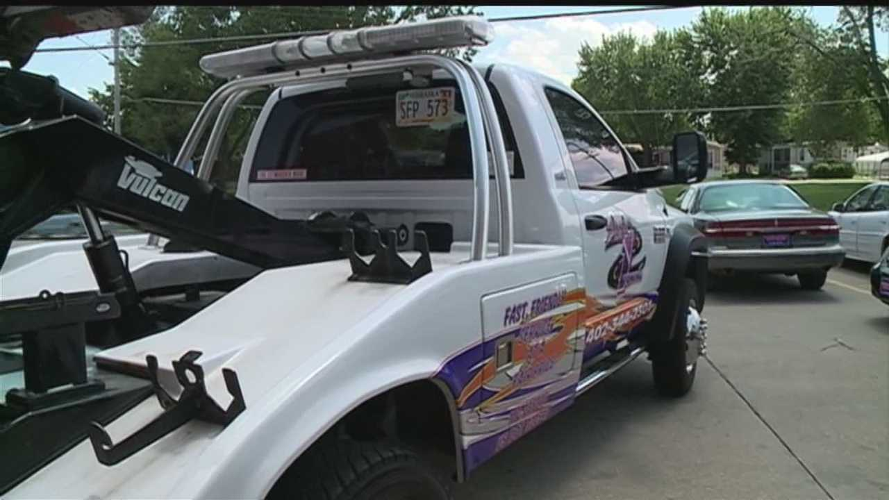 A tow truck driver said he was assaulted by the owner of a vehicle that he said was parked illegally.