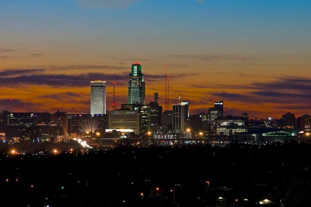 Omaha Skyline Sunset