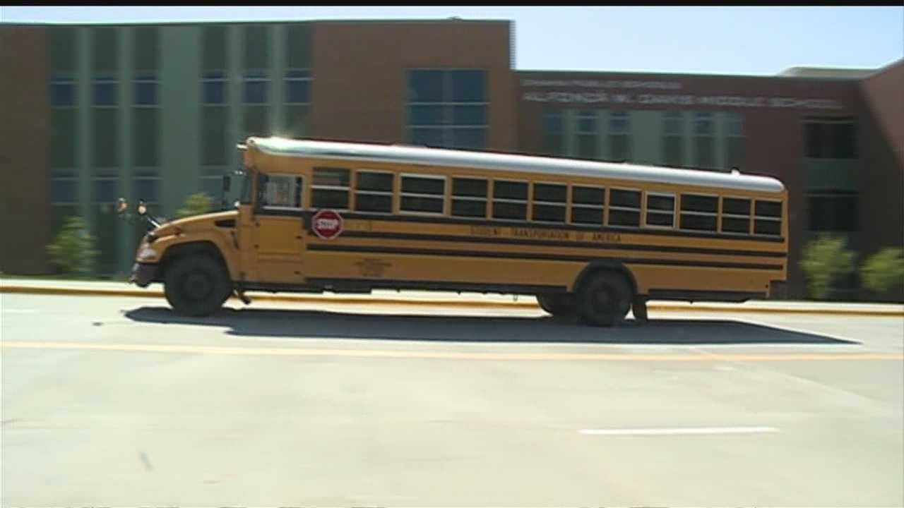 A man reportedly exposed and fondled himself, while making sure a busload of middle school students watched.
