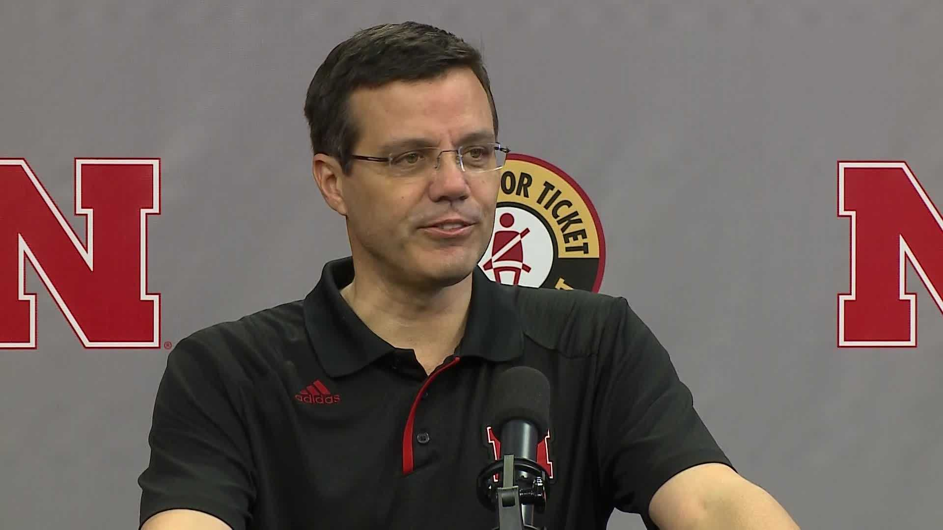 Tim Miles speaks to the media Monday about the team's start to the season.