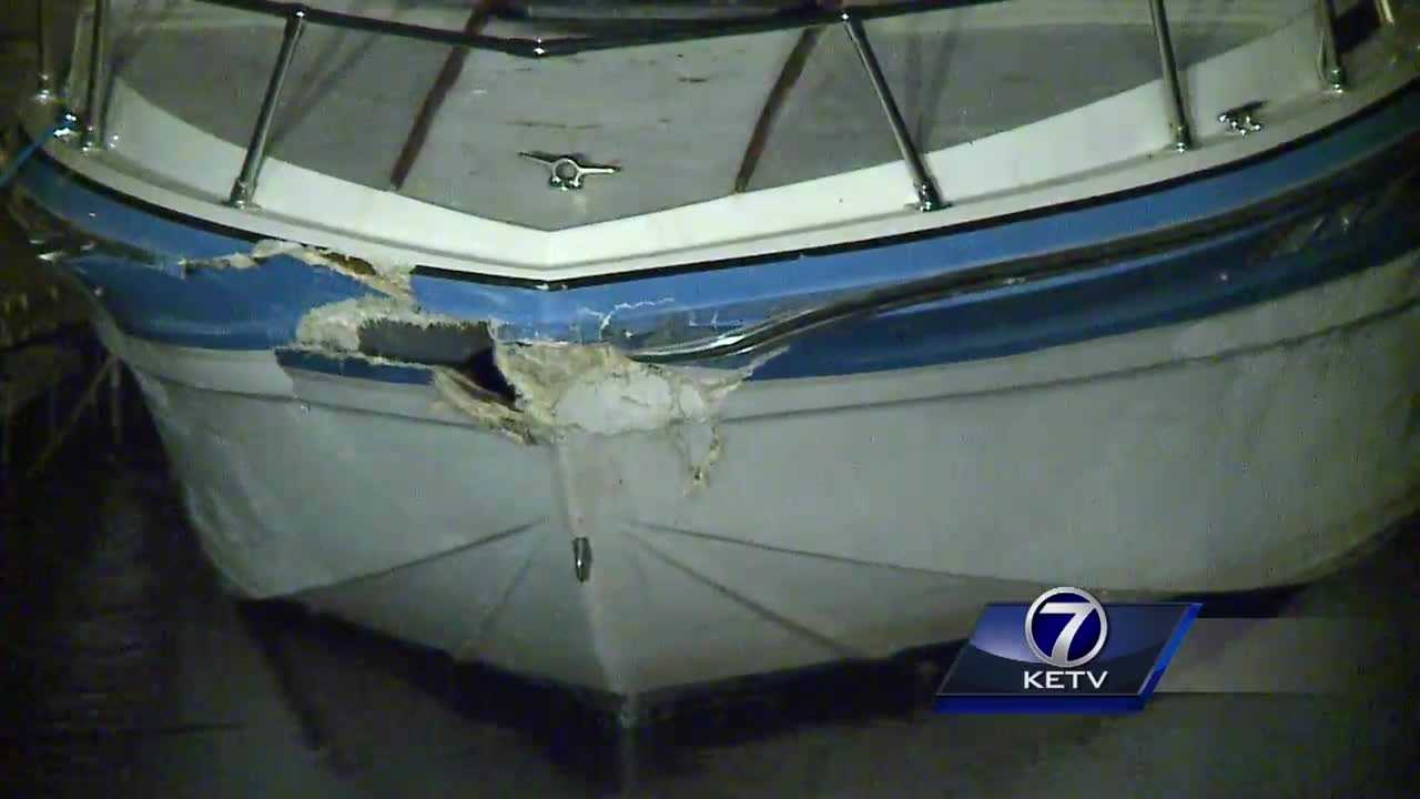 A collision between two boats leaves several people injured and one boat at the bottom of the Missouri River