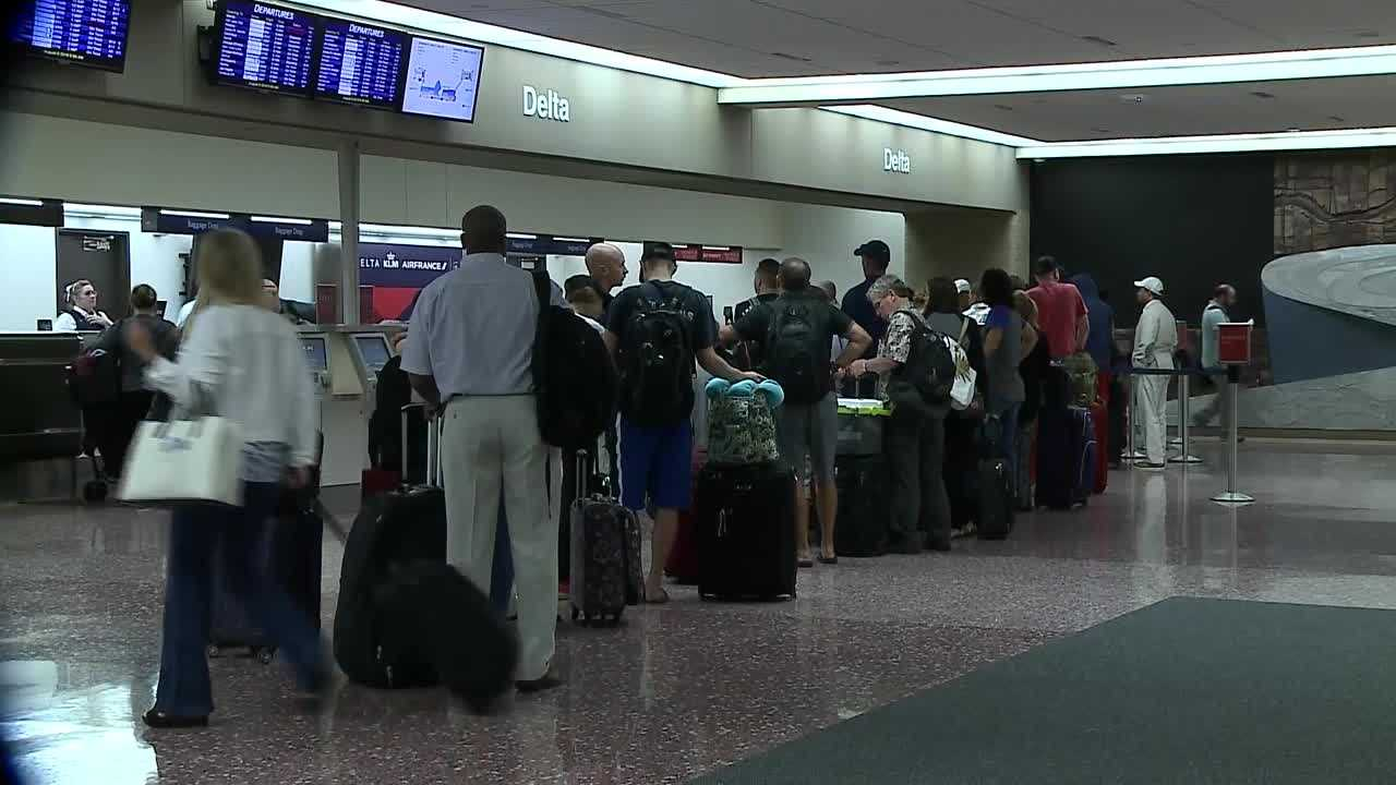 A power outage in Atlanta meant many Delta passengers in Omaha faced delayed flights.
