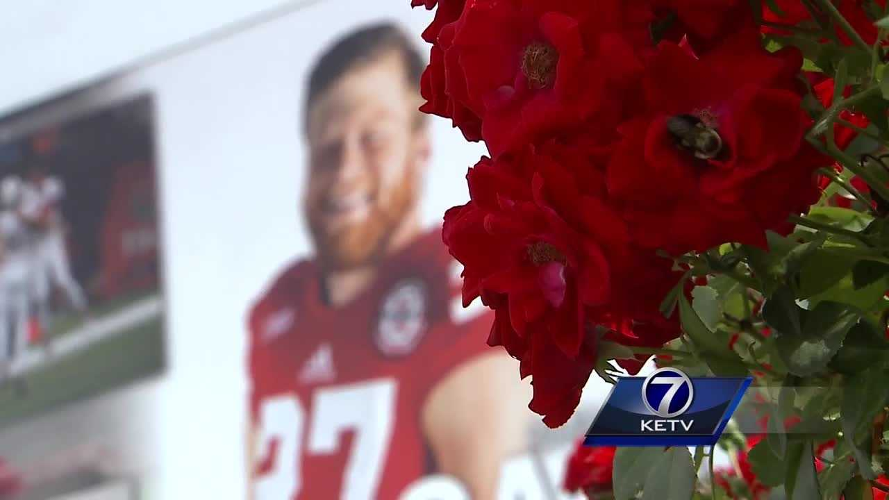 Andy Kendeigh reports on Nebraska's tribute to Sam Foltz outside Memorial Stadium.