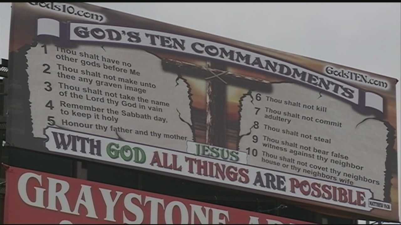 Many students from Muldrow High School say they don't want plaques of the 10 Commandments taken out of their classrooms.