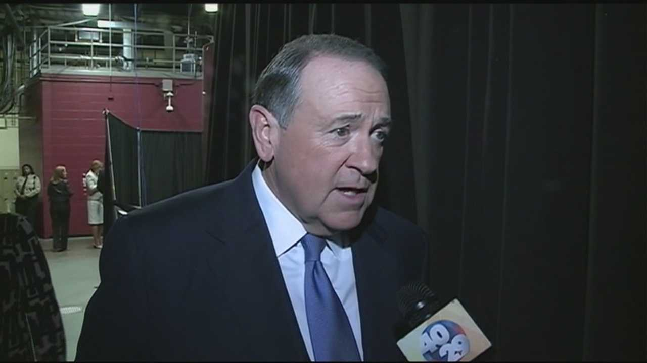 40/29's Yuna Lee had a one-on-one interview with former Arkansas Governor Mike Huckabee after the GOP debate in Cleveland.