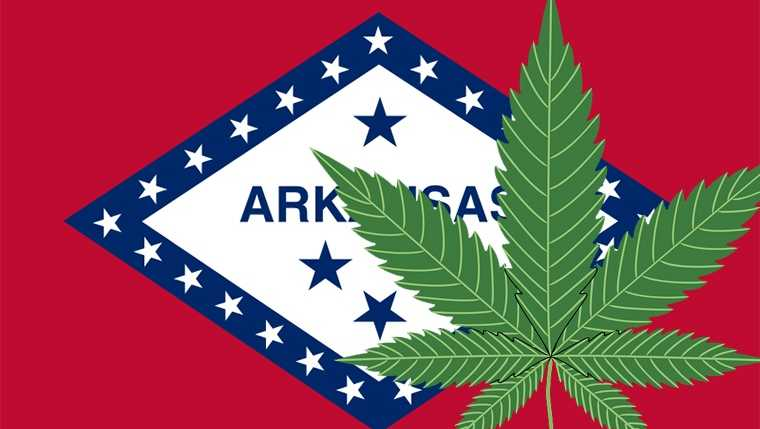 Arkansas marijuana leaf