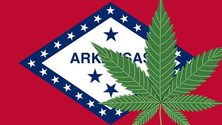Arkansas marijuana leaf