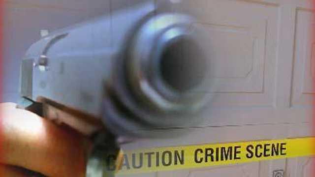 Generic gun with crime tape