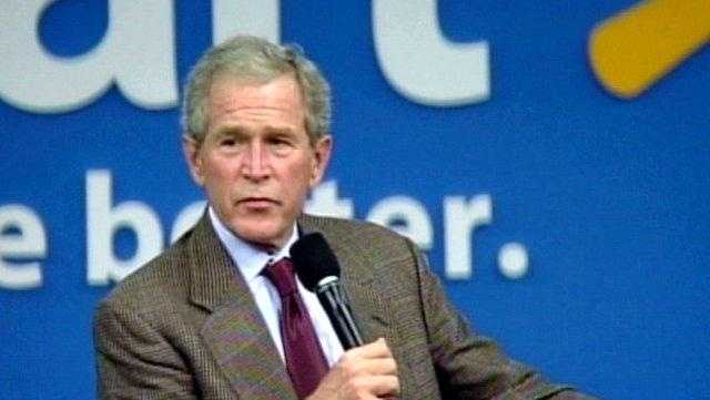 Former President George W. Bush Talks New Book At Wal-Mart Home Office - 25886404