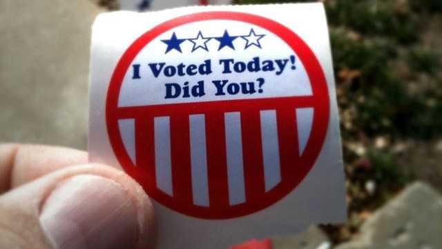 Vote, voting, i voted sticker - 25606747