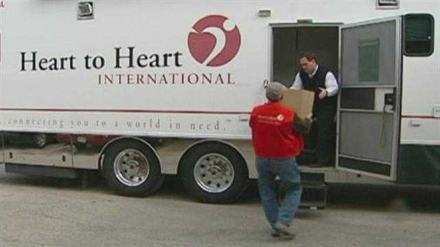 Olathe-based Heart to Heart International is sending medical supplies and people with medical training to help out in the northeastern U.S. in the wake of Hurricane Sandy.