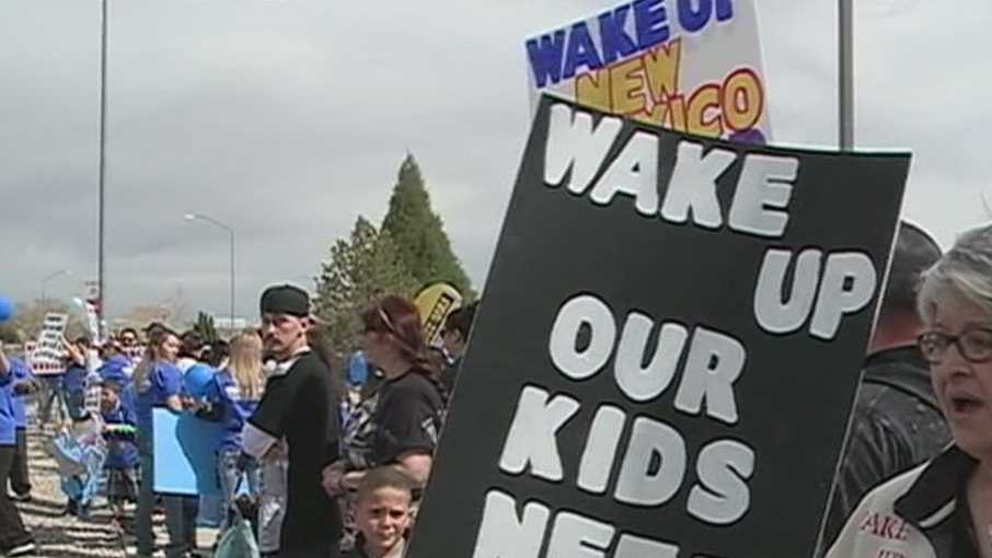 Today marches took place throughout the state to demand a stop to child abuse.