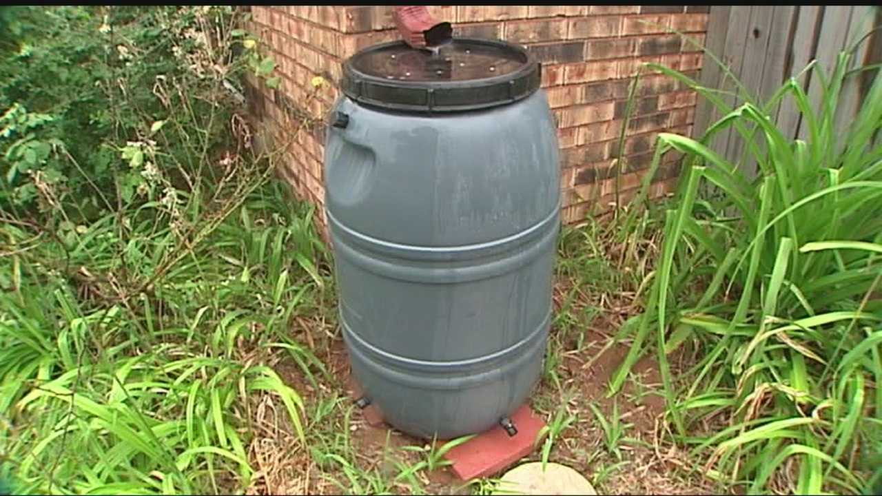 Residents are using rain barrels to conserve water and money.